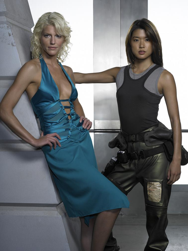 Talent Names - (l-r) Tricia Helfer, Grace Park