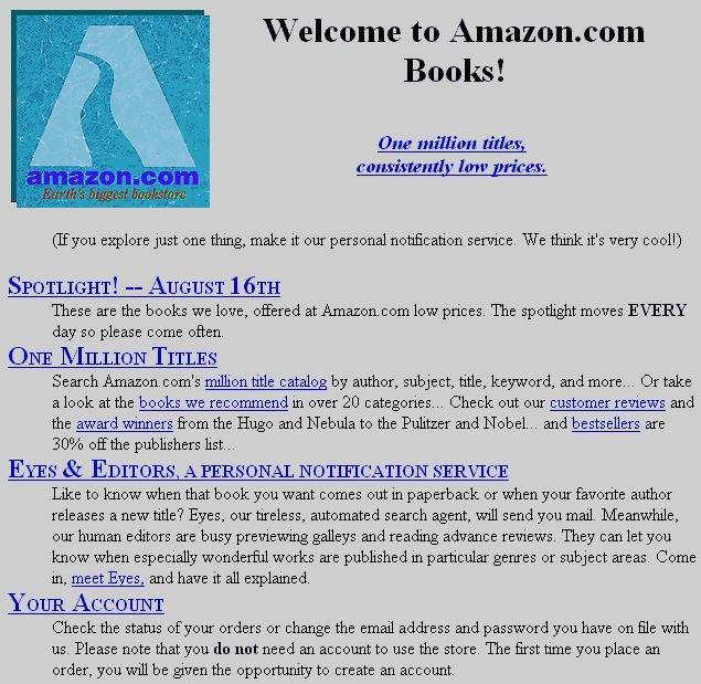 (Amazon in 1995)