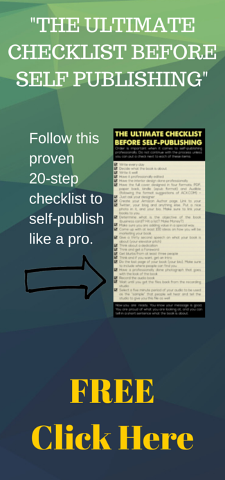 The Ultimate Checklist Before Self-Publishing