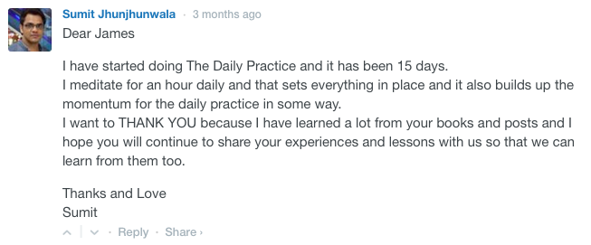 testimonial daily practice