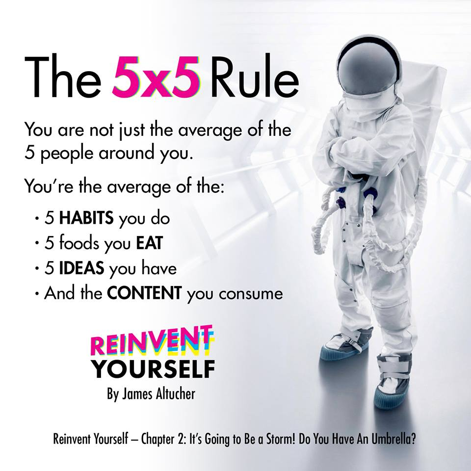 The 5x5 rule can help reinvent yourself